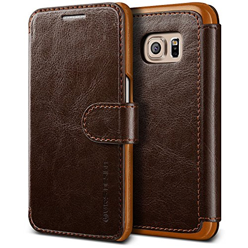 Galaxy S7 Edge Case, VRS Design [Layered Dandy][Coffee Brown] - [Premium Leather Wallet][Slim Fit] For Samsung S7 Edge (Leather Edge Case compare prices)