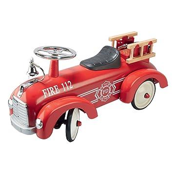 Bentley Kids - Porteur-camion de pompier - cloche/échelle/tuyaux - enfant