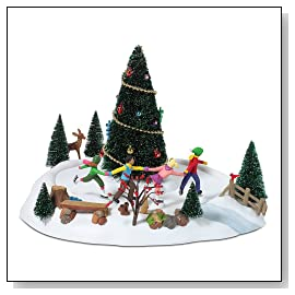 Department 56 Village Skating Around The Christmas Tree