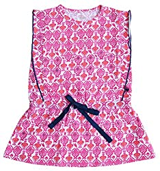 Babeez Baby Girl All Over Printed Dress to fit height 74 - 80cms (100%Cotton)