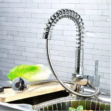 Amzdeal® rubinetti cucina doccetta estraibile pezzo unico moderno ...