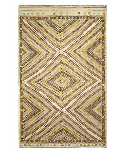 BNomadic C. 1940s Authentic Moud Kilim One-of-a-Kind Rug, Multi, 6′ 2″ x 9′ 2″