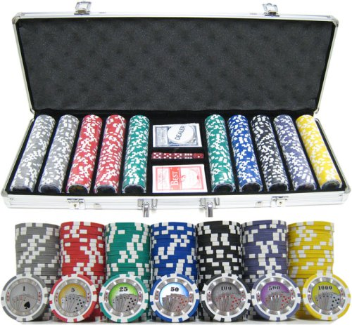 JP Commerce 500casinoroyale 13.5g Clay Casino Royale 500pc Chip Set Poker