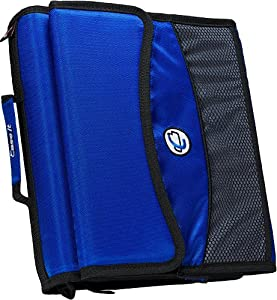 Case-it 2-Inch O-Ring Zipper Binder with Removable Tab File, Blue, D-901-BLU