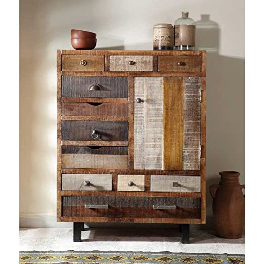 Design Kommode mit 11 Schubladen Holz Pharao24