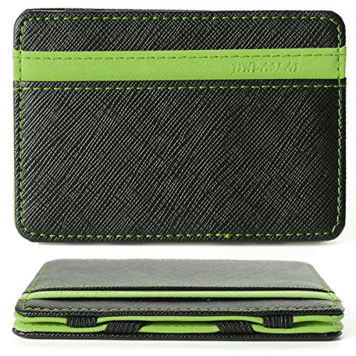 Portafoglio Magico in simili cuoio - magic wallet Credit Card Holder - porta moneta (Verde)