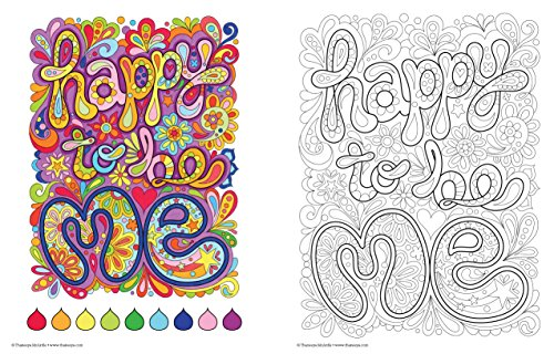 Good Vibes Coloring Book Creative For Stress Adults Fun