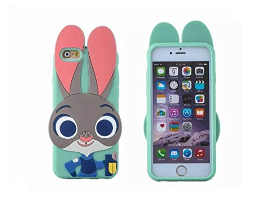 Amazon.com: IPhone 6 Plus Case, LliVEER 3D Cartoon Bunny Utopia ...