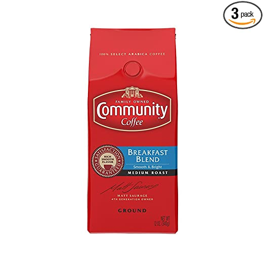 Community Coffee Breakfast Blend, Ground Coffee 12 Ounces