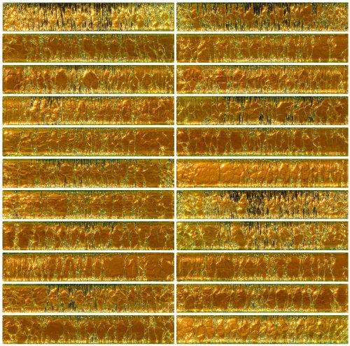1x6 inch sunshine yellow dichroic glass subway tile kobymofflinmvo