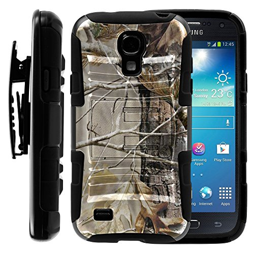 Samsung Galaxy S4 Mini Case, Samsung Galaxy S4 Mini Holster, Two Layer Hybrid Armor Hard Cover with Built in Kickstand for Samsung Galaxy S4 Mini I9190 from MINITURTLE | Includes Screen Protector - Fallen Leaves Camouflage (Samsung S4 Mini I257 Case compare prices)