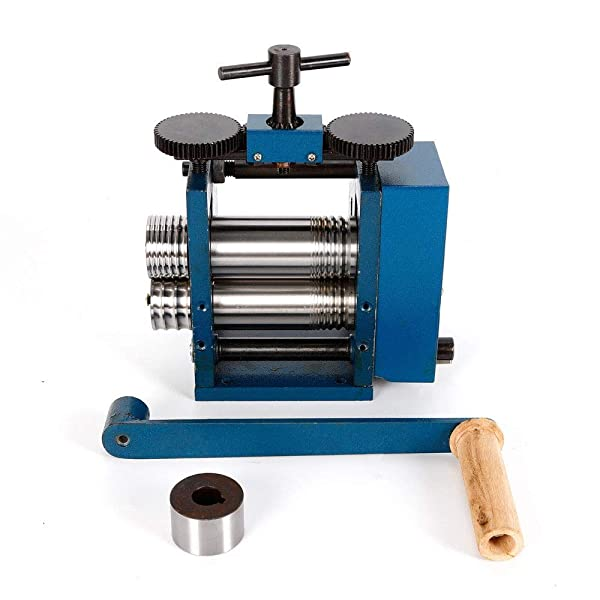 75Mm Manual Combination Rolling Mill Machine,Jewelry Press Tabletting Tool For Jewelry Repair Design Jewelry Tools Blue And Equipments Rolling Mill Us Stock