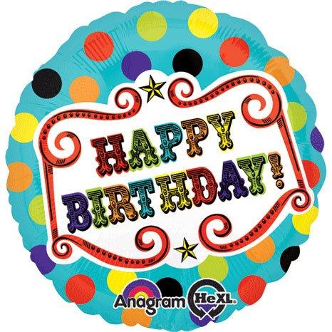 Anagram International Hx Under the Lights Birthday Balloon, Multicolor