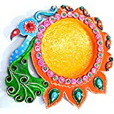 Wholesale Cost Indian Traditional Handicraft Work Export Quality UNIQUE PUJA THALI : HOME DECOR Attractive Product
