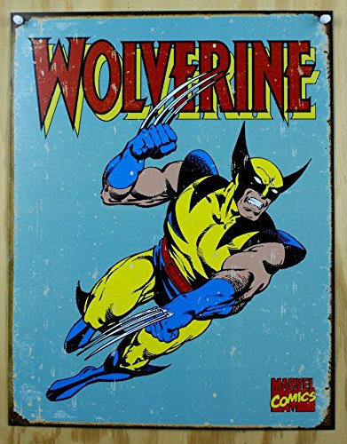 Wolverine Retro Tin Sign , 12x16 , 12x16 (Marvel Sign compare prices)