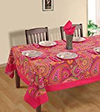 Swayam Libra Printed Cotton 6 Seater Table sheet- Red (RDS16-60X90-2407)