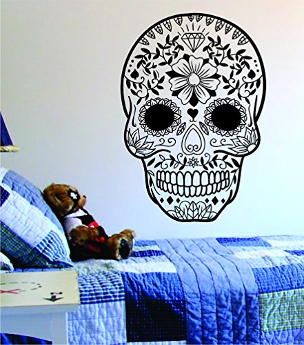 Sugar Skull Version 12 Decal Sticker Wall Vinyl Day of the Dead