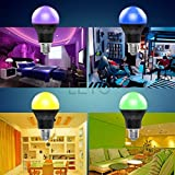 Party Bulb LED,Color Changing Light Bulb,LETO Bluetooth Colored LIght Bulb - Magic Light Bulb -Work with Android Phone, iPhone, iPad,and Tablet,play bulb,led christmas lights -7.5W