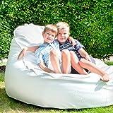 Slope XL Deluxe von Outbag - die Garten- und Strandliege in Leder-Optik! Wasserfest, witterungsbeständig, formstabil sowie Chlor- und Salzwasser reisten! Farbe: Deluxe White/ Weiß