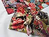 7 pieces Japanese Wrap cloth FUROSHIKI, Gold lame design made in Japan New