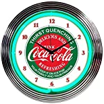 Neonetics Drinks Coca Cola Evergreen Neon Wall Clock, 15-Inch