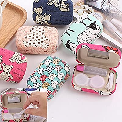 Contact Lens Carrying Case Kit/ Stylish Case with Holder & Mirror D