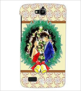 PrintDhaba Couple D-3771 Back Case Cover for HUAWEI HONOR HOLLY (Multi-Coloured)