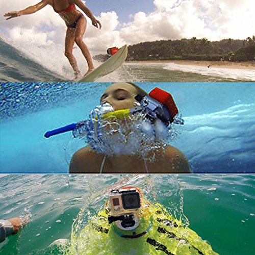 Fantaseal-Surfen-Floaty-Backdoor-Set-fr-GoPro-Floaty-GoPro-Schwimmkrper-GoPro-Schwimmendes-Schaum-GoPro-Tauchgehuse-Schutzgehuse-Hintertr-3M-Klebepads-f-GoPro-Hero3-Orange