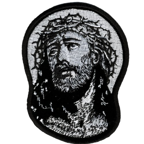 Hot Leathers Jesus In Crown Of Thorns Patch (3