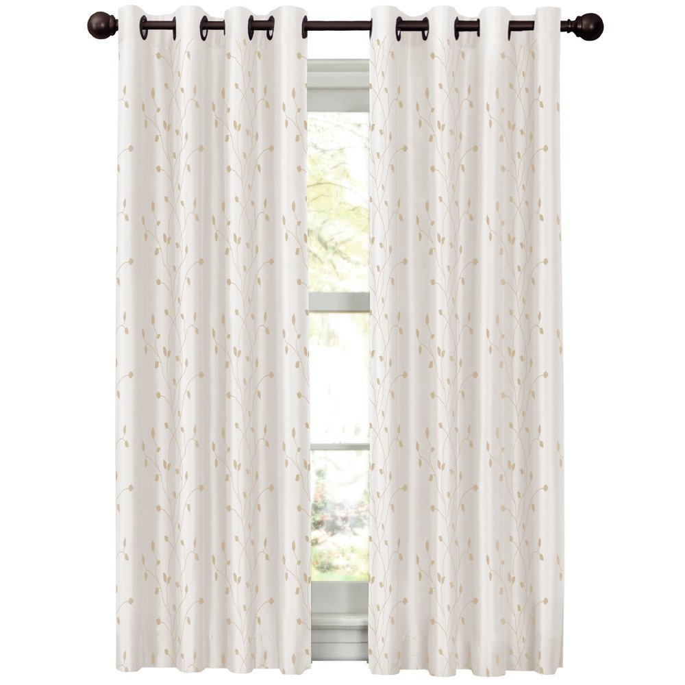 Maytex mills jardin embroidered thermal window curtain 54 for Jardin 63