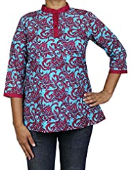 Comfortable Airy Casual Top Kurti From India Printed Cotton Dress Women - B0146DFZA6