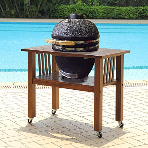 Duluth Forge Kamado Ceramic Egg Smoker Grill With Table - Medium Model (Ceramic Egg Grill compare prices)