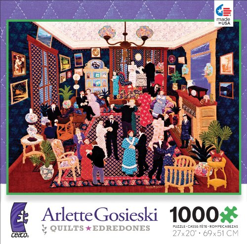 Ceaco Arlette Gosieski Quilts Party at Linette's Jigsaw Puzzle