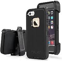 Tirnga Dual layer Shockproof Belt Clip Kickstand Case for iPhone 5/5S/SE