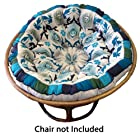 Cotton Craft - Papasan - Peacock Blue - Overstuffed Chair Cushion - Sink into our super comfortable Papasan cushion - Really Thick and Oversized - Pure 100% Cotton duck fabric - Perfect fit for your dorm, den or just about anywhere you want to be comfy and pampered - Fits Standard 45 inch round Papasan Chair - Chair not included