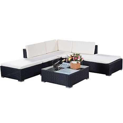 Rattenmöbel Gartenmöbel Lounge Set Ratten Polyrattan Edelstahl Garnitur Sitzgruppe Lounge Gartenmöbel Set