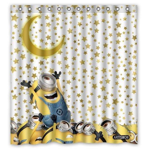 ARTSWOW stelle background_minions Custom impermeabile, Tenda per doccia/vasca da bagno, 60 x 180 cm