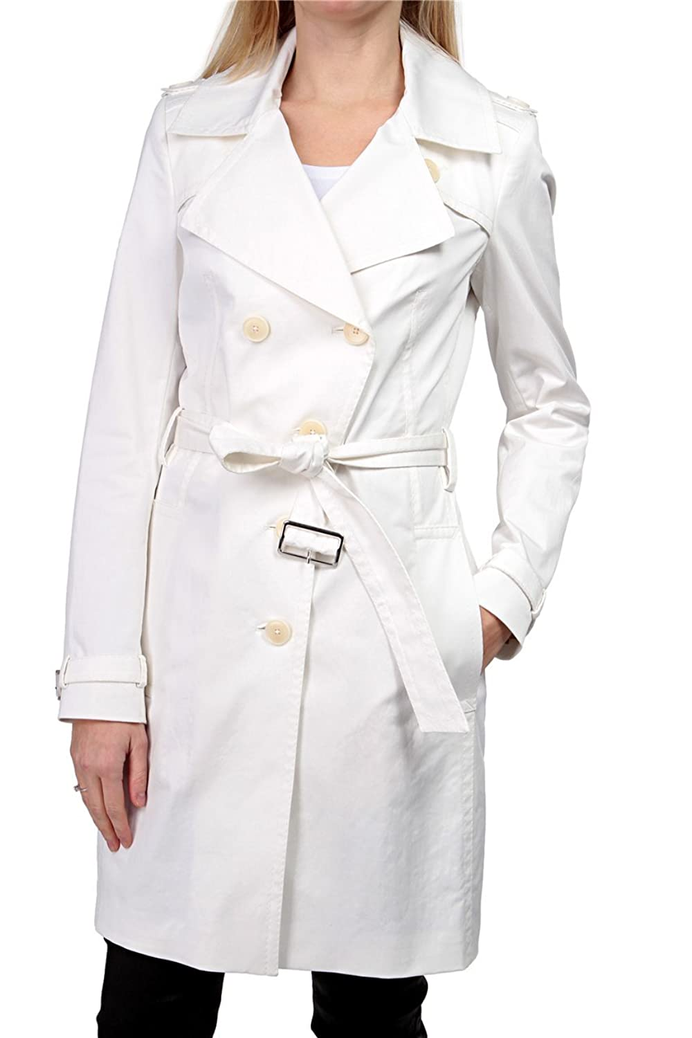 Drykorn Damen Jacke Trenchcoat DISS, Farbe: Weiss
