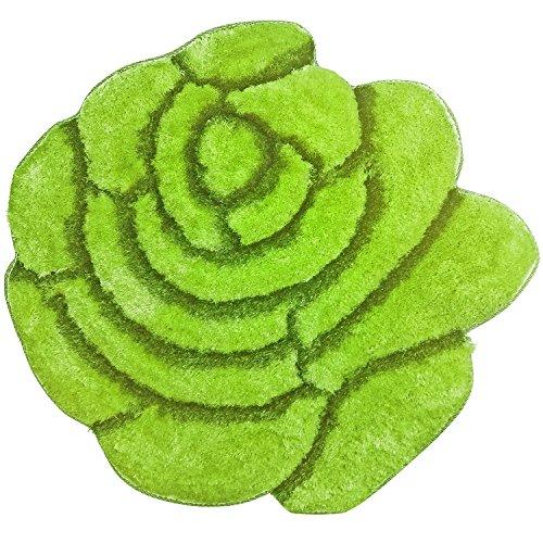 "Super Soft Area Rug - Modern Rose Flower Shaped Cozy 35"" floor Mat with 3D affect,"