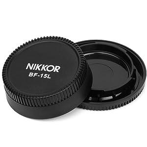 Pixel BF-1A Lens Rear Plus Camera Body Cap for Nikon D90 D7000 D5000 D3100 D3000 D700 D200 D3 D2 D80 Nikkor Lenses,etc. (Color: cap for Nikon)