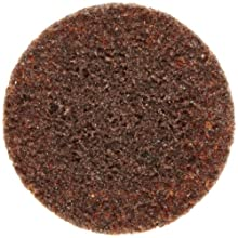Weiler Tiger 2&#034; Diameter, Coarse Grade, General Purpose, Non-Woven Surface Conditioning, Brown Plastic Button Style Disc