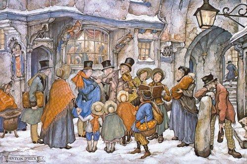 Imagen 1 de Jumbo 01916  - Anton Pieck - Los Cantores de Navidad, 1000 partes