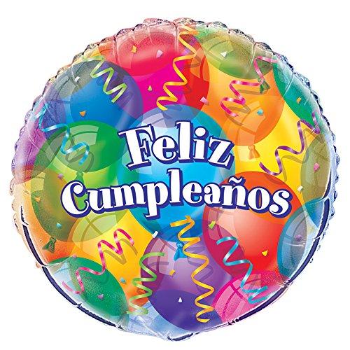 """18 """"Globo feliz cumpleaños Foil"""