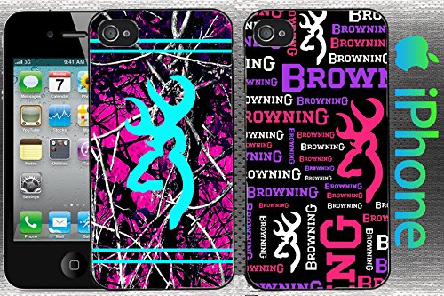 Country Girl Double Deal Black And Hot Pink Camo Iphone 5 / 5S Case
