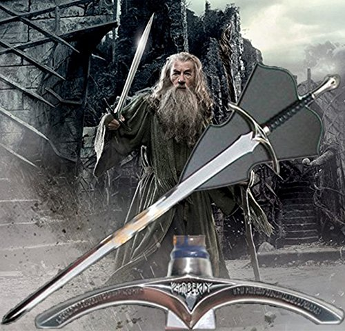 A Hobbit Lord of the Rings LORT Full Size Real Steel Sword Knife Crusader Medieval Glamdring The White Wizard Sword