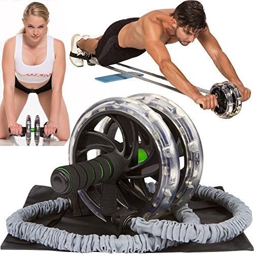 Fitness Pro Carver Daul Workout Abdominal Exercise Roller Exerciser Gym