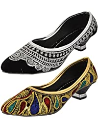 Axcellence Women's Velvet Bellies (Set Of 2 ) - B01FSZRI1A