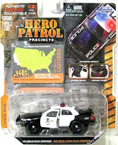 Ford Crown Victoria Los Angeles Police Department LAPD Car 1/64 by Jada 96338 - 1