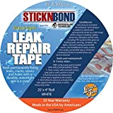 "Leisure Time 60023 Eternabond White 4"" x 25' Roll Repair Kit"