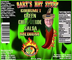 Green Chile Verde Salsa Garys Hot Stuff Gourmet